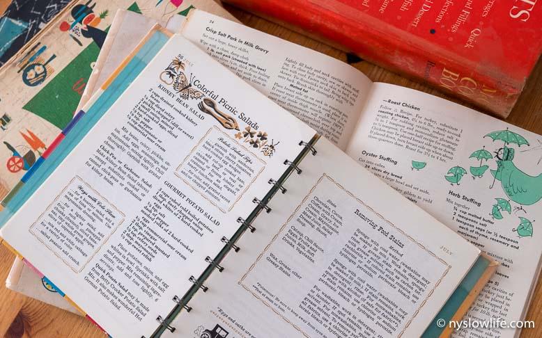 ヴィンテージの英語レシピ本コレクション